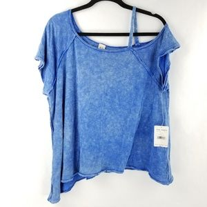 476489726dd16 Free People Tops - Free People Blouse Off Shoulder Asymmetrical Shirt